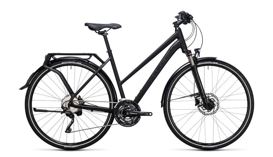 Cube Delhi Pro Naiset pyörä Trapez , musta